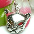 925 STERLING SILVER KITTY CAT FACE CHARM / PENDANT