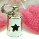 925 STERLING SILVER STAR CUT THROUGH CHARM / PENDANT