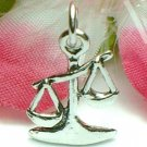 925 STERLING SILVER SCALES OF JUSTICE CHARM / PENDANT