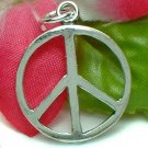 925 STERLING SILVER PEACE SYMBOL CHARM / PENDANT