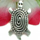 925 STERLING SILVER SPIRAL TURTLE CHARM / PENDANT