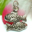 925 STERLING SILVER TWO FISHES CHARM / PENDANT