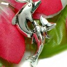 925 STERLING SILVER DOLPHIN AND CALF CHARM / PENDANT