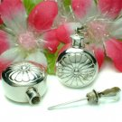 925 STERLING SILVER ROUND FLOWER PERFUME BOTTLE PENDANT