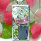 925 STERLING SILVER MULTI CUBIC ZIRCONIA PENDANT