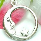 925 STERLING SILVER MOON AND STAR CHARM / PENDANT