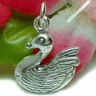 925 STERLING SILVER SWAN CHARM / PENDANT