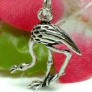 925 STERLING SILVER FLAMINGO BIRD CHARM / PENDANT