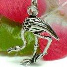925 STERLING SILVER FLAMINGO BIRD CHARM / PENDANT