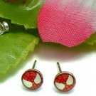 925 STERLING SILVER SPIDERMAN RED STUD EARRINGS