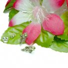 925 STERLING SILVER VIRGO PERIDOT CZ STUD EARRINGS