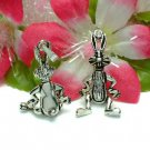 STERLING SILVER BUNNY RABBIT (MOVES) CHARM / PENDANT #5