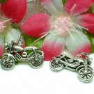 925 STERLING SILVER MOTORCYCLE (MOVES) CHARM / PENDANT