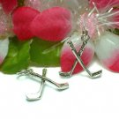 925 STERLING SILVER 3D HOCKEY STICKS CHARM / PENDANT