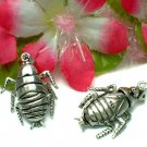 STERLING SILVER 1-INCH COCKROACH (MOVE) CHARM / PENDANT