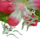 925 STERLING SILVER PAIR OF LIZARD CHARM / PENDANT