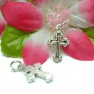 925 STERLING SILVER CROSS CHARM / PENDANT #25