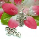 925 STERLING SILVER CELTIC CROSS CHARM / PENDANT #12