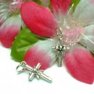 925 STERLING SILVER CROSS WITH BOW CHARM / PENDANT