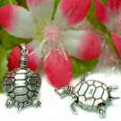 STERLING SILVER SEA TURTLE (MOVES) CHARM / PENDANT #47