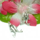925 STERLING SILVER KISSING DOLPHINS CHARM / PENDANT