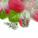 STERLING SILVER CAPTAIN'S WHEEL & ANCHOR CHARM PENDANT