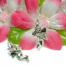 925 STERLING SILVER CUPID ANGEL WITH HARP CHARM PENDANT