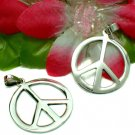 925 STERLING SILVER PEACE SYMBOL CHARM / PENDANT #45