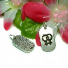 925 STERLING SILVER DOUBLE FEMALE SYMBOL CHARM PENDANT
