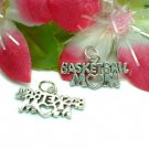 925 STERLING SILVER BASKETBALL MOM CHARM / PENDANT