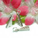 925 STERLING SILVER CHEESE CHARM / PENDANT