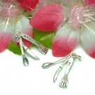 925 STERLING SILVER FORK, SPOON AND KNIFE CHARM PENDANT