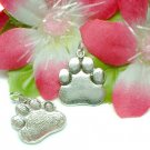 925 STERLING SILVER PAW CHARM / PENDANT
