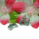 925 STERLING SILVER ELECTRIC TRAM BUS CHARM / PENDANT