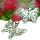 STERLING SILVER BUTTERFLY CHARM / PENDANT #2