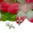 925 STERLING SILVER PUFFED CROSS CHARM / PENDANT