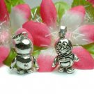 STERLING SILVER DORAEMON CAT ROBOT (MOVE) CHARM PENDANT