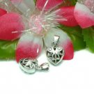925 STERLING SILVER FILIGREE HEART CHARM / PENDANT