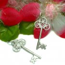925 STERLING SILVER ANTIQUE KEY CHARM / PENDANT #10