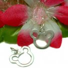 925 STERLING SILVER MOUSE HEAD PROFILE CHARM / PENDANT