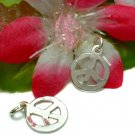 925 STERLING SILVER PEACE SYMBOL CHARM / PENDANT #2