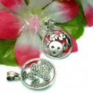 925 STERLING SILVER CIRCLE OF TEDDY BEARS CHARM PENDANT