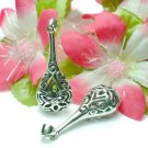 925 STERLING SILVER FILIGREE FLOWER BOTTLE CHARM PENDAN
