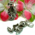 STERLING SILVER CHINESE DRAGON (MOVES) CHARM PENDANT #N