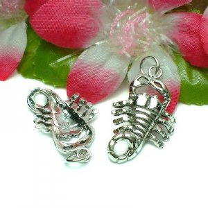 925 STERLING SILVER SCORPION CHARM / PENDANT #24