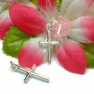 925 STERLING SILVER CROSS CHARM / PENDANT #1LD