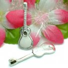 925 STERLING SILVER GUITAR CHARM / PENDANT #7
