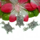 925 STERLING SILVER 1-INCH SPIRAL TURTLE CHARM PENDANT