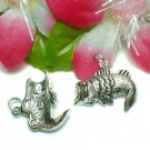 925 STERLING SILVER LARGE MOUTH BASS FISH CHARM PENDANT