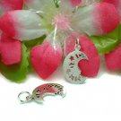 925 STERLING SILVER MAN IN MOON CHARM / PENDANT #18